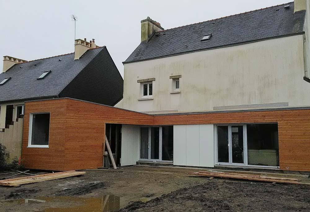 Extension en bois - Finistère