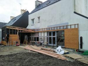 Extension et surélévation de maison en Finistère